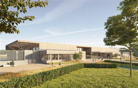 The royal horticultural society (rhs) was planning to open its fifth garden, set in the historic grounds of worsley new hall in salford, greater manchester, in july last year. RHS Bridgewater Visitor Centre   Bennett Architectural ...