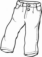 Jeans Cartoon Drawing Coloring Template Sketch Credit Larger sketch template