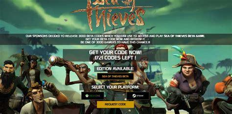 sea  thieves beta code generator guildforgamecom