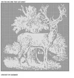 Free Filet Crochet Deer Pattern