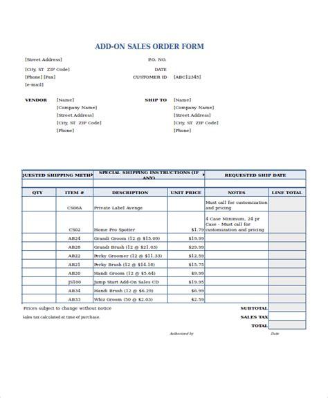 sle order form excel order form template 19 free excel documents