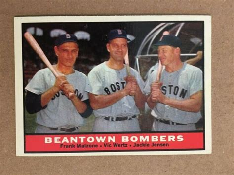 We did not find results for: 1961 Topps #173 Beantown Bombers Baseball Card NM ...