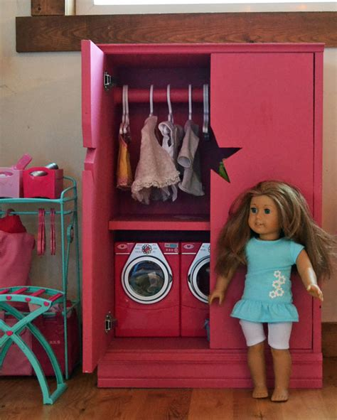 white doll closet for american or 18 quot doll