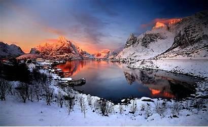 Norway Winter Nature Landscape Wallpapers Desktop Background