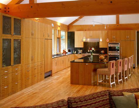 kitchen center island cabinets kitchen of slab wood cabinets with large center island contemporary kitchen minneapolis