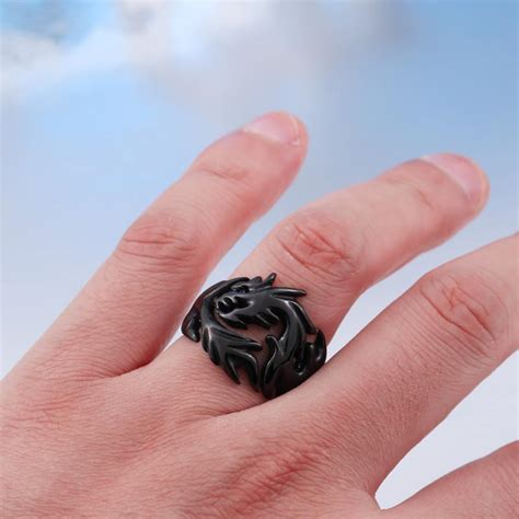 buy young celtic black dragon wedding rings  mens