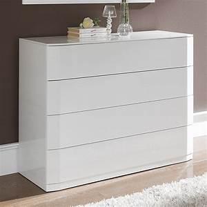Meuble Blanc Pas Cher : meuble laque blanc pas cher 4 commode blanc laque uteyo ~ Dailycaller-alerts.com Idées de Décoration