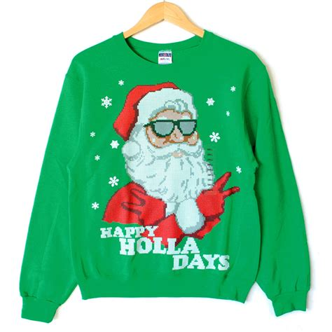 igly sweater holla days cool santa sweater style