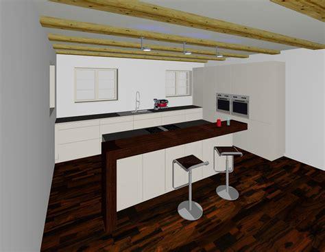 Küchen Mit Kochinsel Und Theke by 3d Planung K 252 Che Mit Insel Und Theke