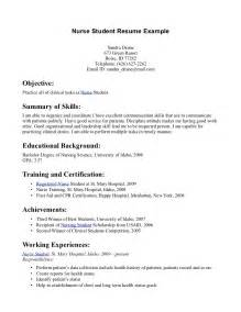 Sample High School Student Resume Example Nurse Student