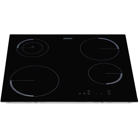 zanussi zi604fk frameless 60cm 4 zone black induction hob moka coffee zone