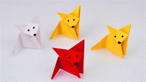 origami fuchs anleitung fuchs falten origami fox einfach niedlich bastelidee