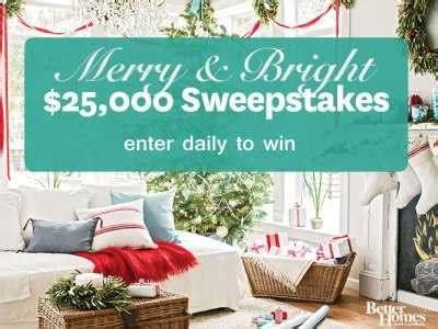 win bhg www bhg com 25kholiday enter today to win 25 000 cash from bhg merry bright sweepstakes