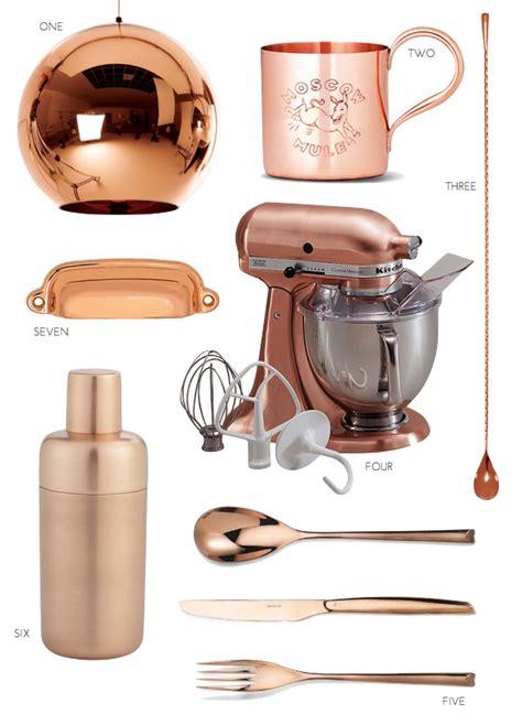 copper kitchen accessories the copper kitchen trend pulp design studios