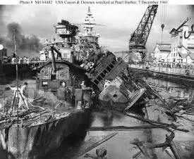 uss pennsylvania cassin and downes during the pearl harbor attack