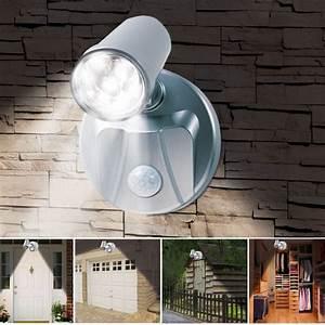 Lampe Extérieure Sans Fil : lampe spot x2 7 leds sans fil avec d tecteur de mouvement ~ Dailycaller-alerts.com Idées de Décoration