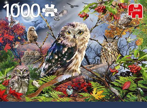 jumbo jigsaw puzzle owls   moonlight  piece