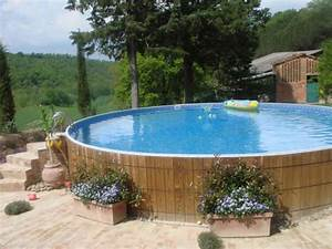 above ground pool landscaping placing flower boxes With in ground swimming pool designs