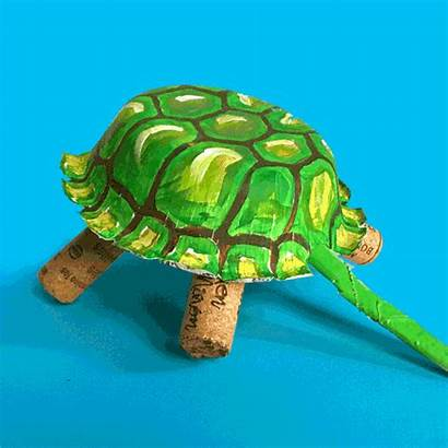 Craft Turtle Recycled Crafts Animal Paper Wine