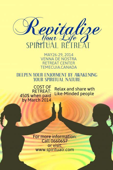 spiritual retreat poster template postermywall