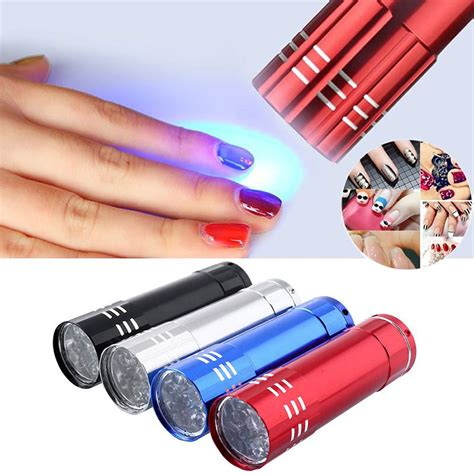 gel nails without uv l lke 1pc mini 9 led uv gel curing l without battery portability nail dryer led flashlight