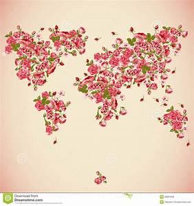 Carte Du Monde Design : fond d 39 abr g sur eco de carte du monde de fleur illustration de vecteur illustration du atlas ~ Teatrodelosmanantiales.com Idées de Décoration