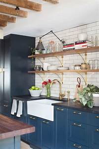best 25 blue kitchen cabinets ideas on pinterest blue With best brand of paint for kitchen cabinets with custom gold stickers