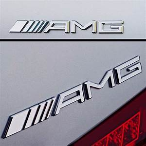 Logo Mercedes Amg : chrome amg rear emblem badge for mercedes benz c cl s sl ml clk cls63 slk55 ebay ~ Medecine-chirurgie-esthetiques.com Avis de Voitures