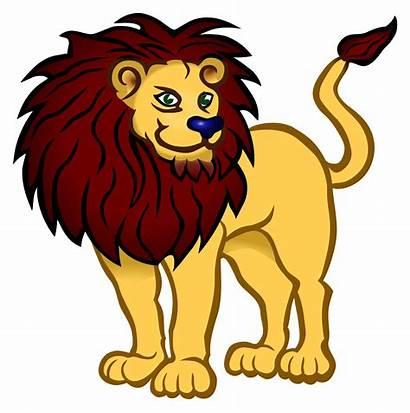 Lion Coloured Clipart Clip Cat Loewe Cats