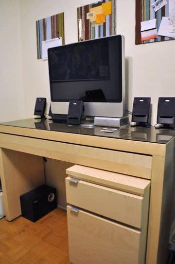 dressing table  hidden keyboard tray desk ikea hackers