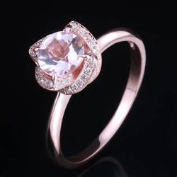 gold morganite engagement rings diamonds 10k gold 6 5mm cut halo pink morganite engagement ring ebay