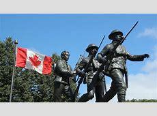 WW1 War Memorial World War I Memorial With Canadian Flag