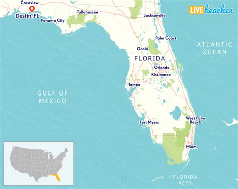 map  destin florida  beaches