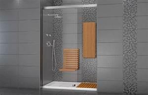 ceramique douche recherche google salle de bain With porte de douche coulissante avec chauffage ceramique mural salle de bain
