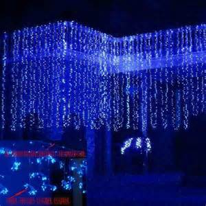 new model blue 600 led water flow waterfall decoration lights string 6 3m l33a ebay