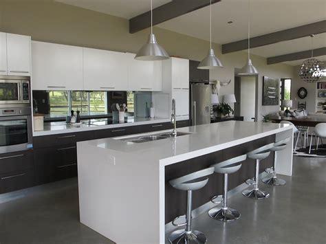 Very Sleek Modern Look #kitchens  Kitchen Living In