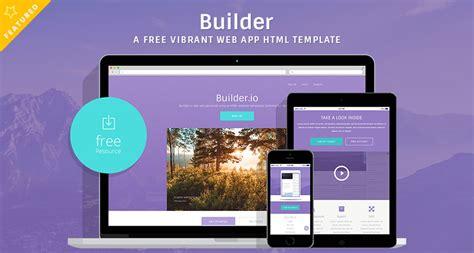 builder   vibrant web app html template