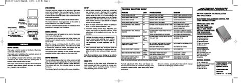 reese 83501 brakeman compact brake control user manual 6 pages