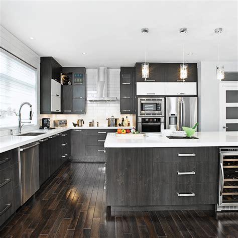 cuisine noir et blanche photo cuisine moderne