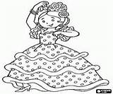 Coloring Pages Flamenco Spain Dancers Dance Spanish Colouring Music Discover sketch template