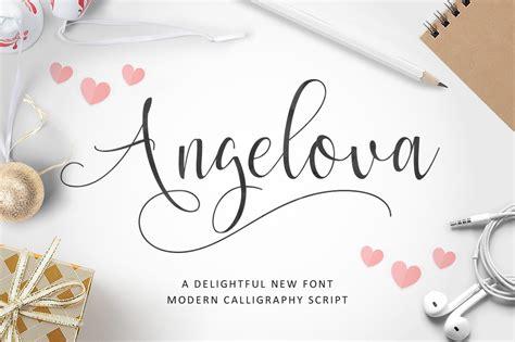 angelova script script fonts creative market