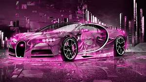 BUGATTI CHIRON 3D SUPER ANIME GIRL AEROGRAPHY NEURAL