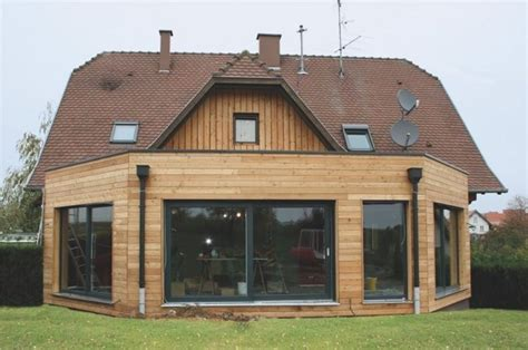 extension en bois d une maison extension de maison ossature bois