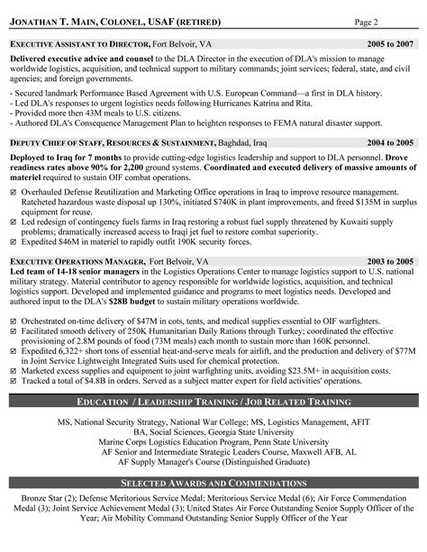 Army Executive Officer Resume by Resume Sles Exles Resume Writers