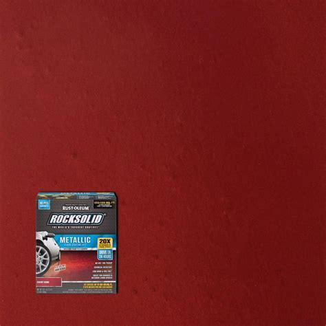 Rust Oleum RockSolid 70 oz. Metallic Cherry Bomb Garage