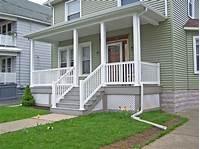 front porch plans Wooden Front Porch Railings