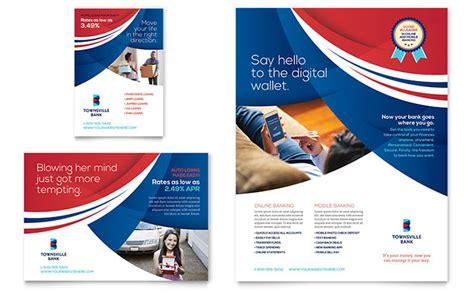 bank flyer ad template design