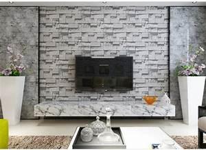 Papier Peint Fausse Pierre : d coration salon avec la pierre ~ Dailycaller-alerts.com Idées de Décoration