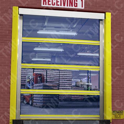 clear plastic roll up garage doors roll up screens dock door bug screens warehouse