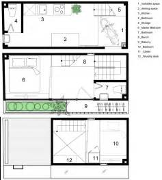 house layout a tiny family home in that 39 s set on a 2 5 meter wide plot